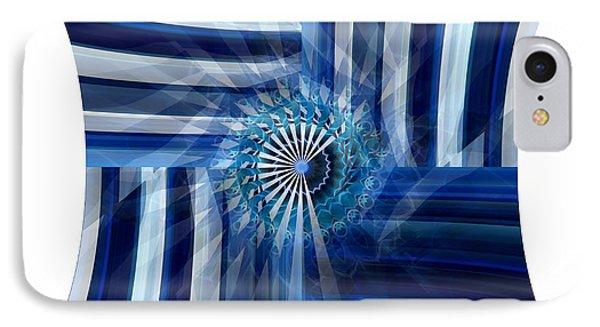 Blue Dimension  IPhone Case by Thibault Toussaint
