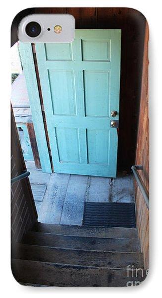 Blue Door IPhone Case by Cheryl Del Toro