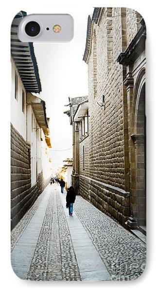 Blue Door In Cusco IPhone Case by Darcy Michaelchuk
