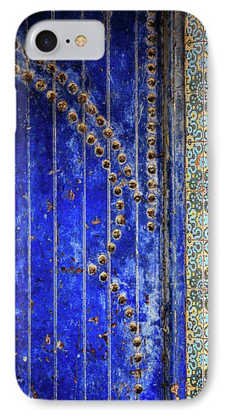 IPhone Case featuring the photograph Blue Door In Marrakech by Marion McCristall