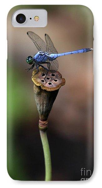 Blue Dragonfly Dancer IPhone Case