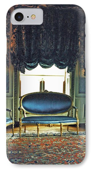Blue Drawing Room Phone Case by DigiArt Diaries by Vicky B Fuller