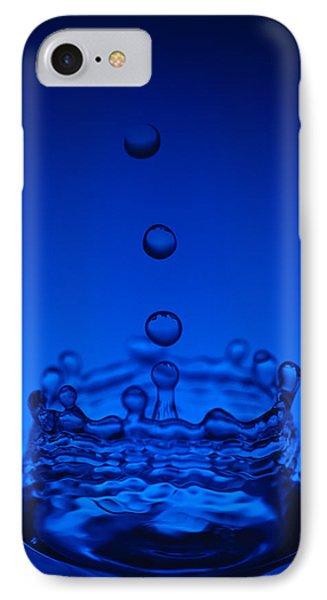 Blue Drop Phone Case by Steve Gadomski