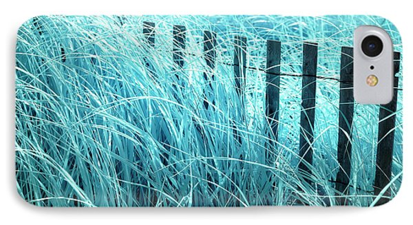Blue Dune Grass IPhone Case by John Rizzuto