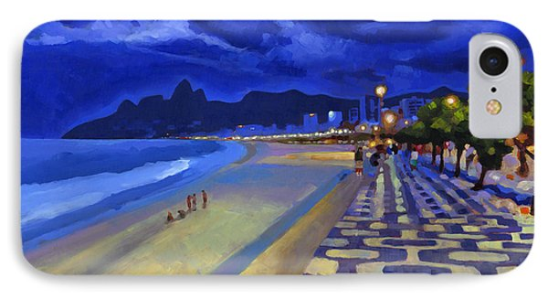 Blue Dusk Ipanema IPhone Case by Douglas Simonson