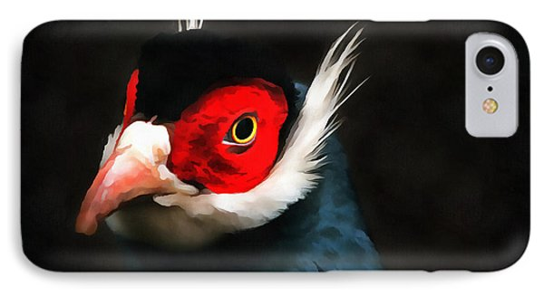 Blue Eared Pheasant IPhone Case by Jack Torcello