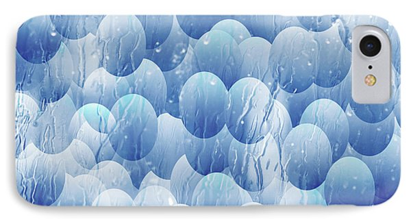 IPhone Case featuring the photograph Blue Eggs - Abstract Background by Michal Boubin