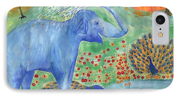 Blue Elephant Squirting Water Phone Case by Sushila Burgess
