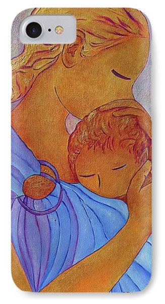 Blue Embrace IPhone Case by Gioia Albano