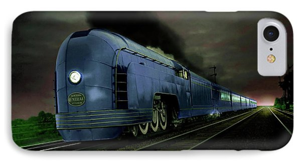Blue Express IPhone Case by Steven Agius