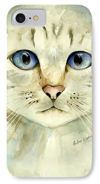 Blue-eyed Cat Phone Case by Arline Wagner