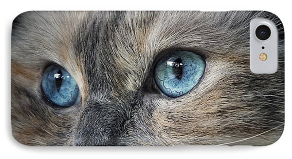 Blue Eyed Girl IPhone Case by Karen Stahlros