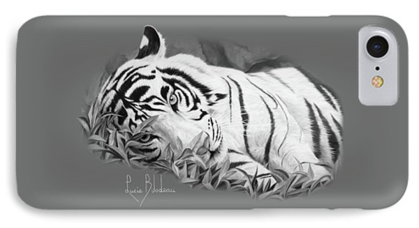 Blue Eyes - Black And White IPhone Case by Lucie Bilodeau