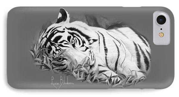 Blue Eyes - Black And White IPhone 7 Case by Lucie Bilodeau