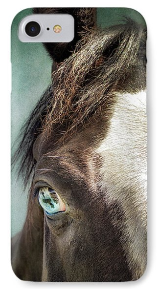 Blue Eyes IPhone Case by Debby Herold