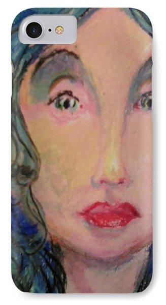 Blue Eyes Phone Case by Derrick Hayes