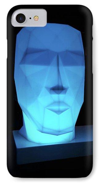 Blue Face IPhone Case by Art Spectrum