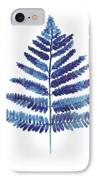 Garden iPhone 7 Case - Blue Ferns Watercolor Art Print Painting by Joanna Szmerdt