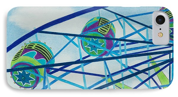 Blue Ferris Wheel Phone Case by Glenda Zuckerman