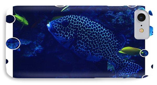 Blue Fish Phone Case by Carol Groenen