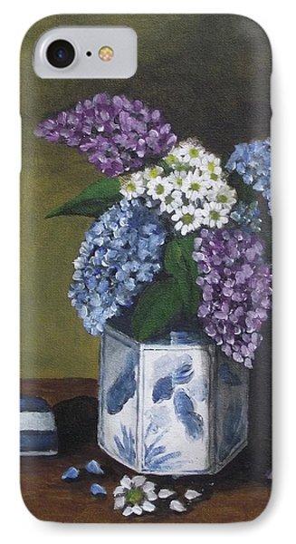 Blue Fish Vase Phone Case by Kim Selig