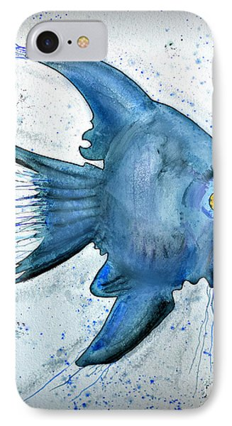 IPhone Case featuring the photograph Blue Fish by Walt Foegelle