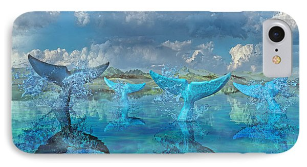 Blue Flags IPhone Case by Betsy Knapp