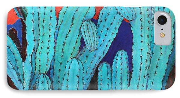 Blue Flame Cactus Acrylic IPhone Case by M Diane Bonaparte