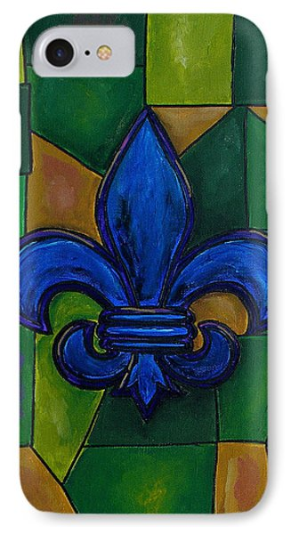 Blue Fleur De Lis Phone Case by Patti Schermerhorn