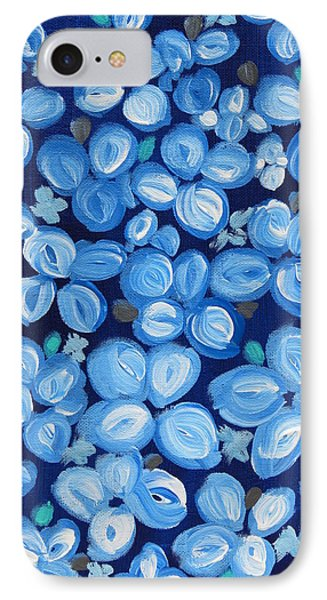Blue Floral Frenzy IPhone Case
