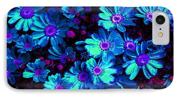 Blue Flower Arrangement Phone Case by Phill Petrovic