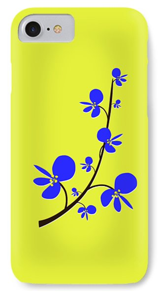 Blue Flowers IPhone Case by Anastasiya Malakhova