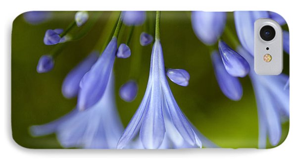 Blue Flowers IPhone Case by Nailia Schwarz