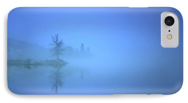 IPhone Case featuring the photograph Blue Fog At Skaha Lake by Tara Turner