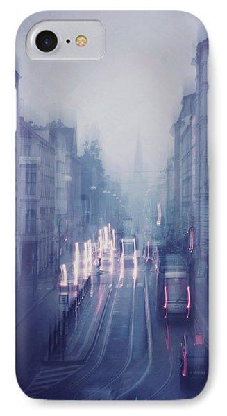 Blue Fog Over Rainy City IPhone Case