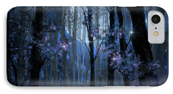 Blue Forest IPhone Case by Bekim Art