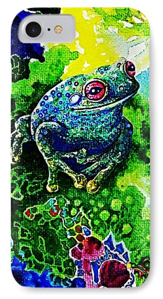 Blue  Frog IPhone Case by Hartmut Jager