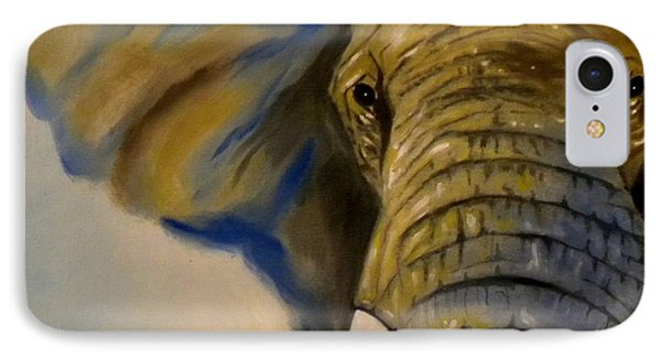 IPhone Case featuring the painting Blue Giant by Edwin Alverio