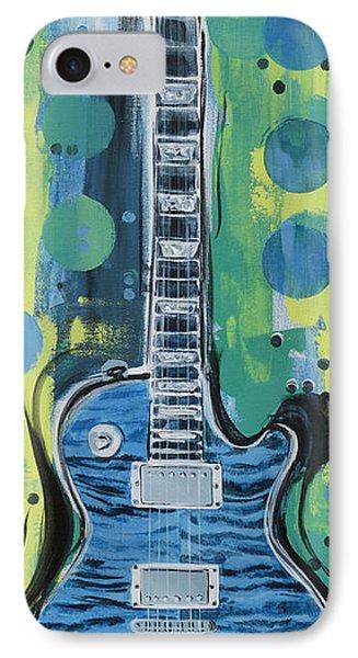 Blue Gibson Guitar IPhone Case