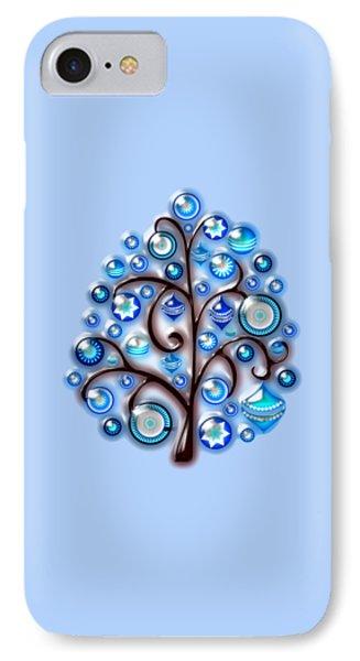 Blue Glass Ornaments IPhone Case by Anastasiya Malakhova