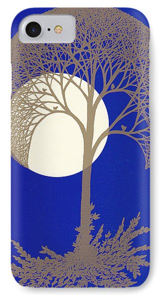 Blue Gold Moon IPhone Case by Charles Cater