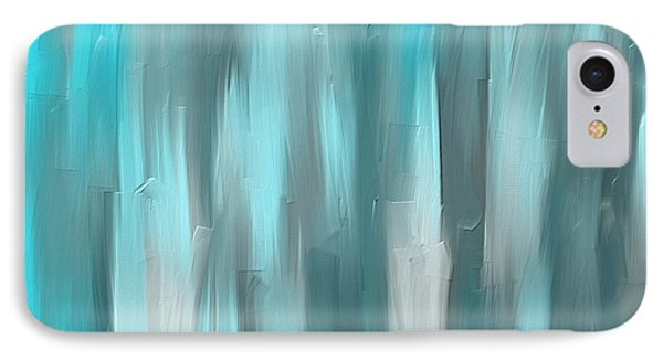 Blue Gray Art IPhone Case
