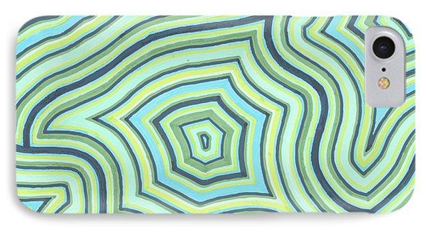 Blue Green Pattern Play IPhone Case by Jill Lenzmeier