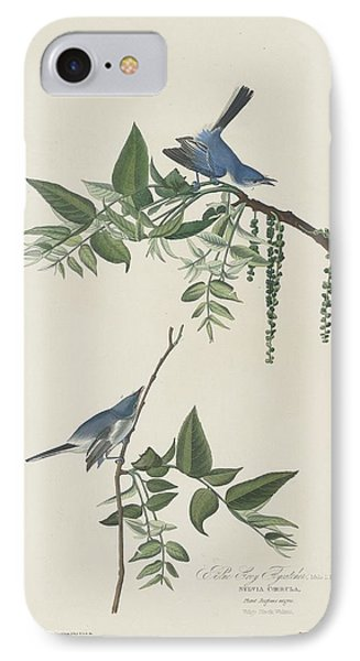 Flycatcher iPhone 7 Case - Blue-grey Flycatcher by Dreyer Wildlife Print Collections