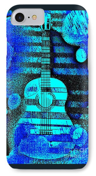 Blue Guitar By Jasna Gopic IPhone Case by Jasna Gopic