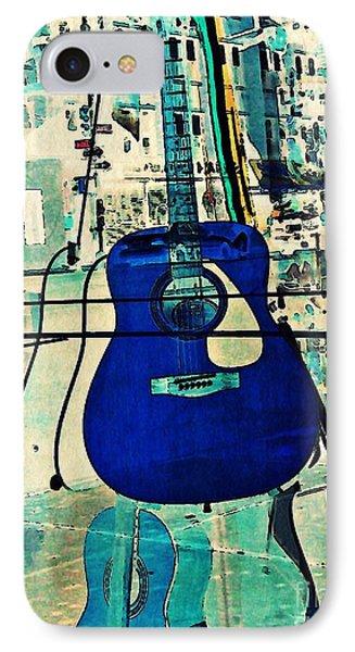 Blue Guitar IPhone Case