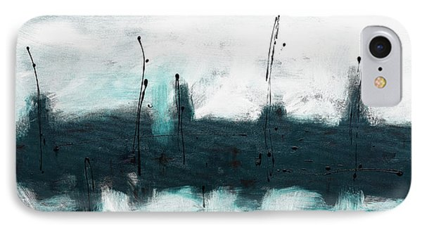 IPhone Case featuring the painting Blue Harbour by Carmen Guedez