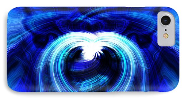 Blue Heart On Stage IPhone Case by Cherie Duran