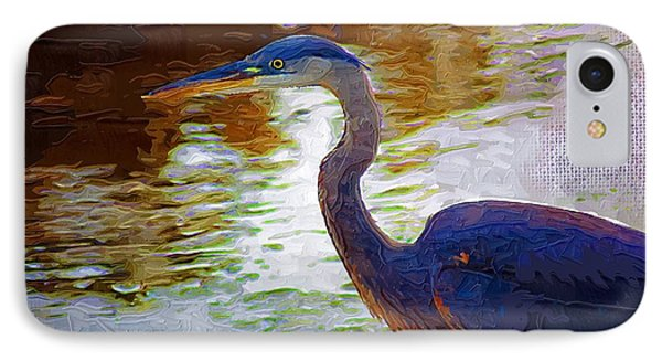 IPhone Case featuring the photograph Blue Heron 2 by Donna Bentley