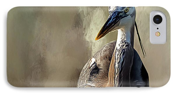 Blue Heron IPhone Case by Cyndy Doty